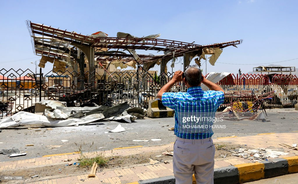 YEMEN-CONFLICT-AIR STRIKE : News Photo