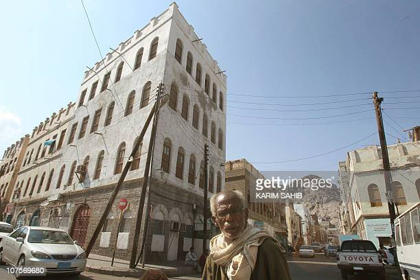 A Yemeni man walks down a street in the southern city of Aden situated at the mouth of the Red Sea on November 29 2010 AFP PHOTO/KARIM SAHIB