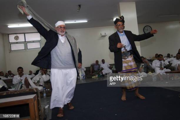 Yemeni men dance during a traditional wedding party in Sanaa on June 24 where men and women are segregated in line with strict Islamic traditions AFP...