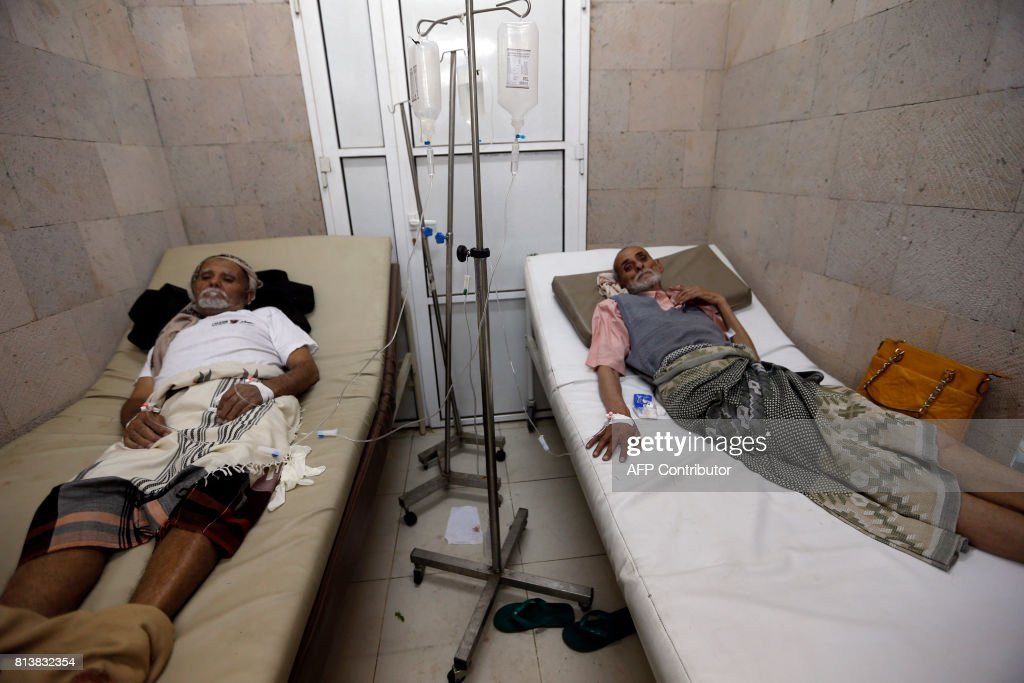 YEMEN-CONFLICT-HEALTH-CHOLERA : News Photo