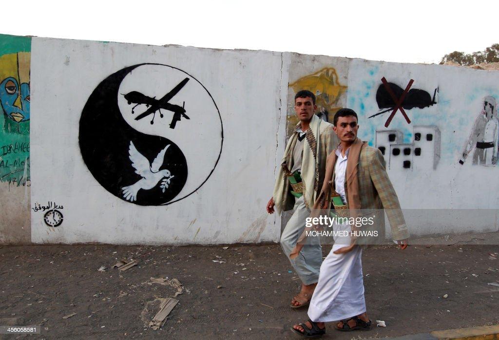YEMEN-UNREST-DRONE : News Photo