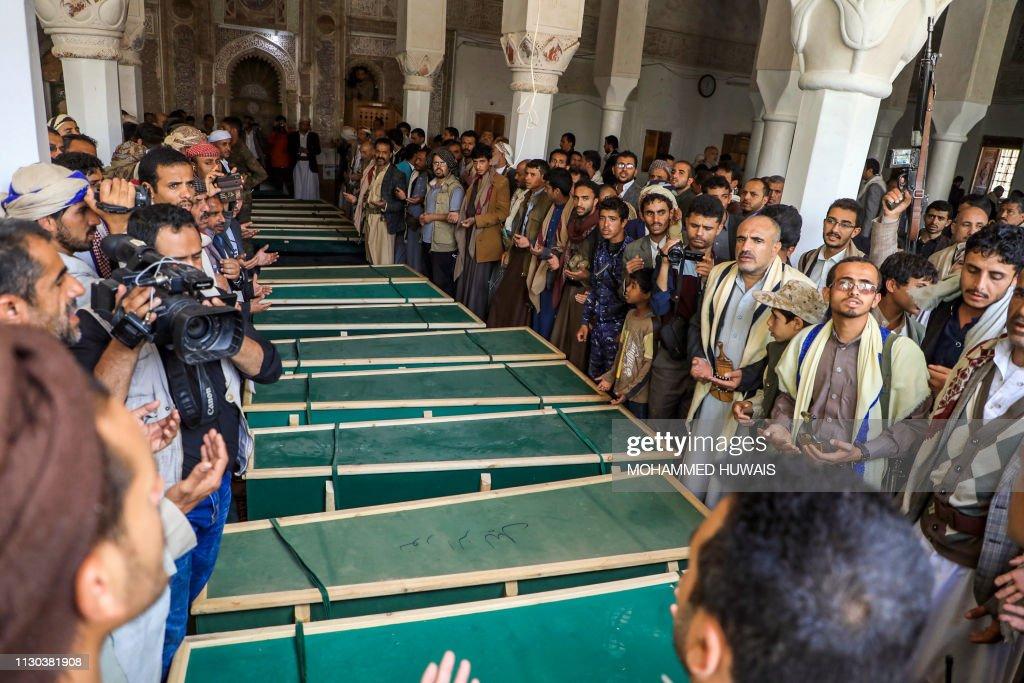 YEMEN-CONFLICT-FUNERAL : Foto jornalística