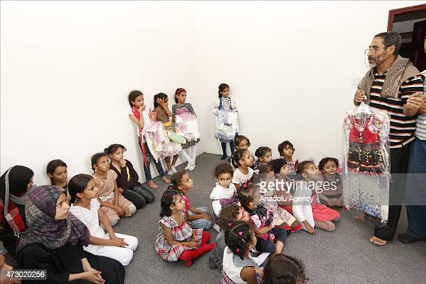 Yemeni orphan kids are seen at an orphanage in Ibb Yemen on May 11 2015 Approximately 160 Orphan children were brought from Sanaa and Taizz cities...