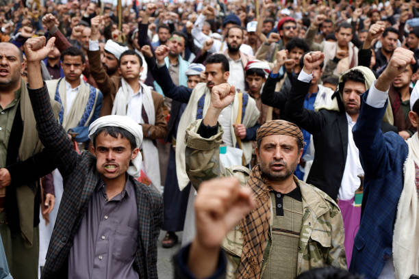 YEM: Palestinian Solidarity Protest In Yemen