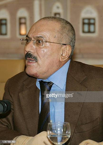 Yemeni President Ali Abdullah Saleh gives a speech which was also televised in Sanaa on October 8 where he said he is now ready to step down within...