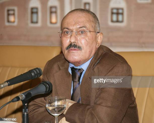 Yemeni President Ali Abdullah Saleh gives a televised speech in Sanaa on October 8 where he said he is now ready to step down within days in the face...