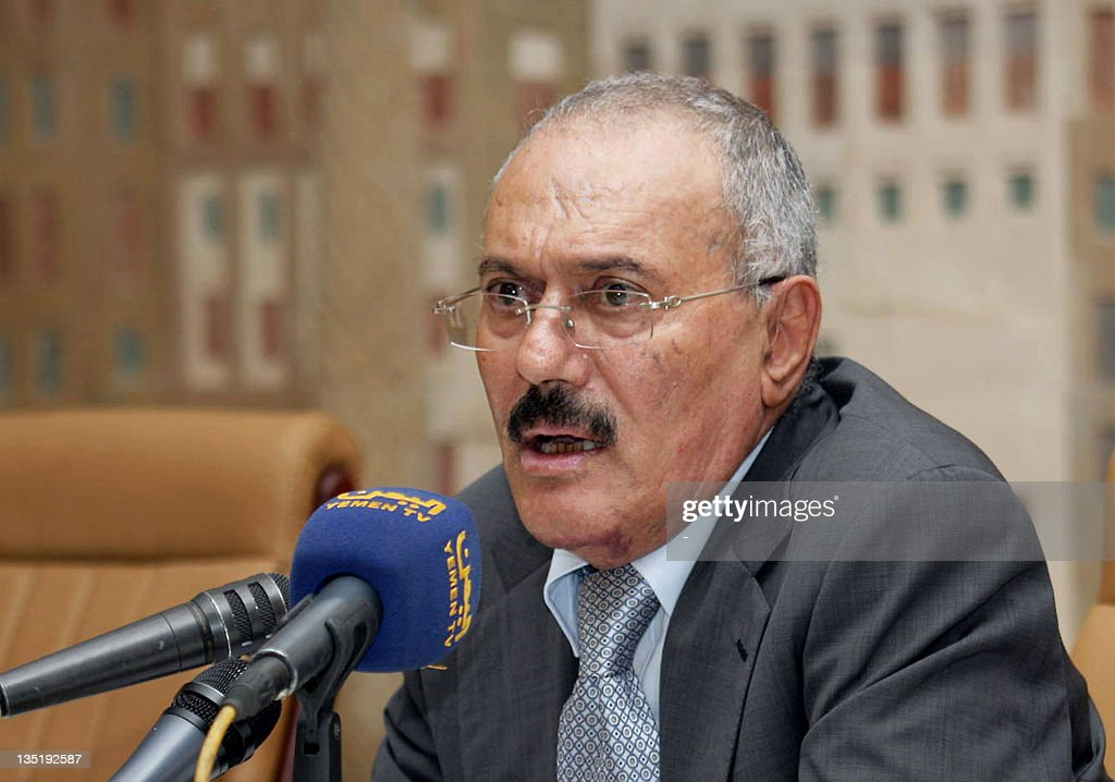 Yemeni President Ali Abdullah Saleh spea : News Photo