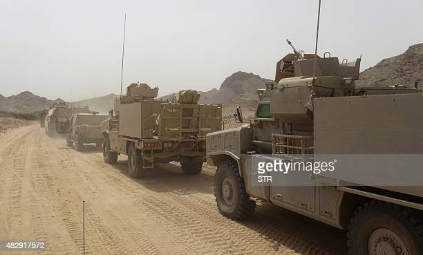 Yemeni progovernment forces backed by a Saudiled coalition approach the key AlAnad military base in the southern Lahj governorate some 50 kms north...