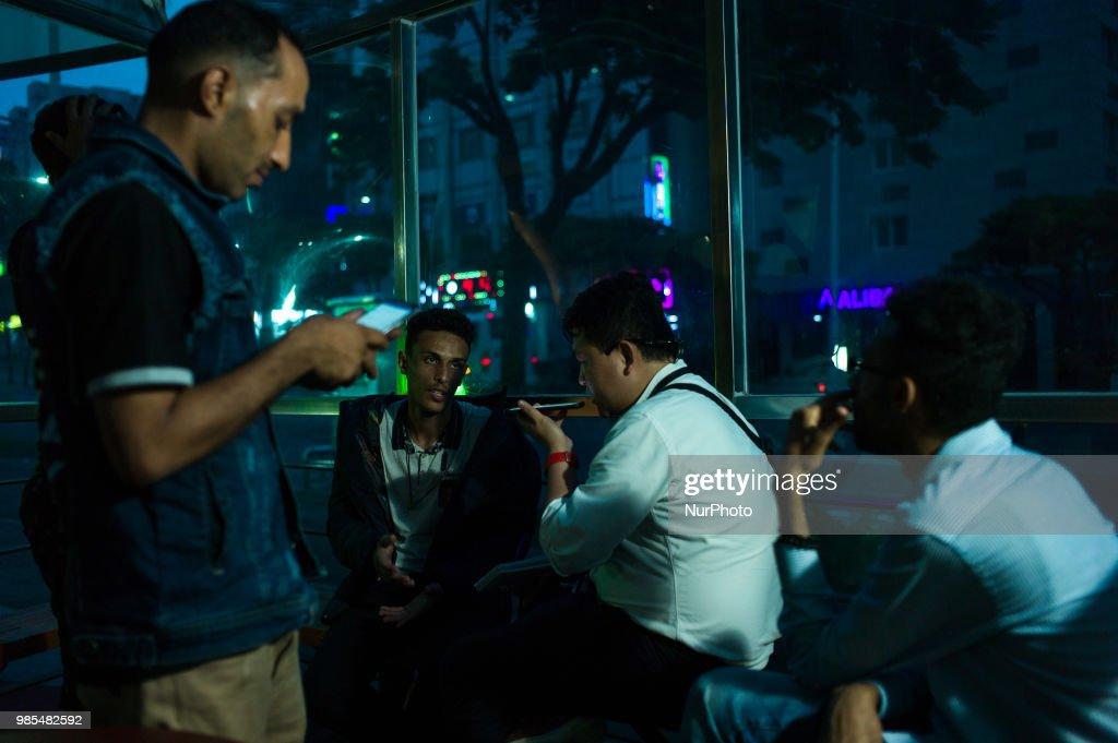Yemeni refugees in Jeju island, South Korea : News Photo