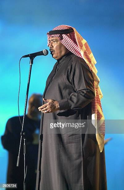 Yemeni singer Abu Baker Salem performs in Dubai late 03 February 2004 as part of the musical events of the Gulf emirate's onemonth shopping festival...
