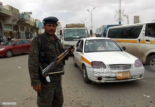 A Yemeni soldier mans a checkpoint in the capital Sanaa on April 8 after suspected AlQaeda militants in police uniforms killed four soldiers in an...