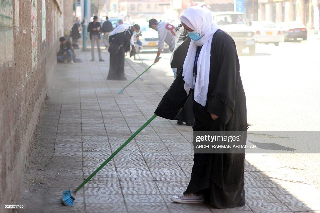 YEMEN-SOCIETY-CLEANUP : Nachrichtenfoto