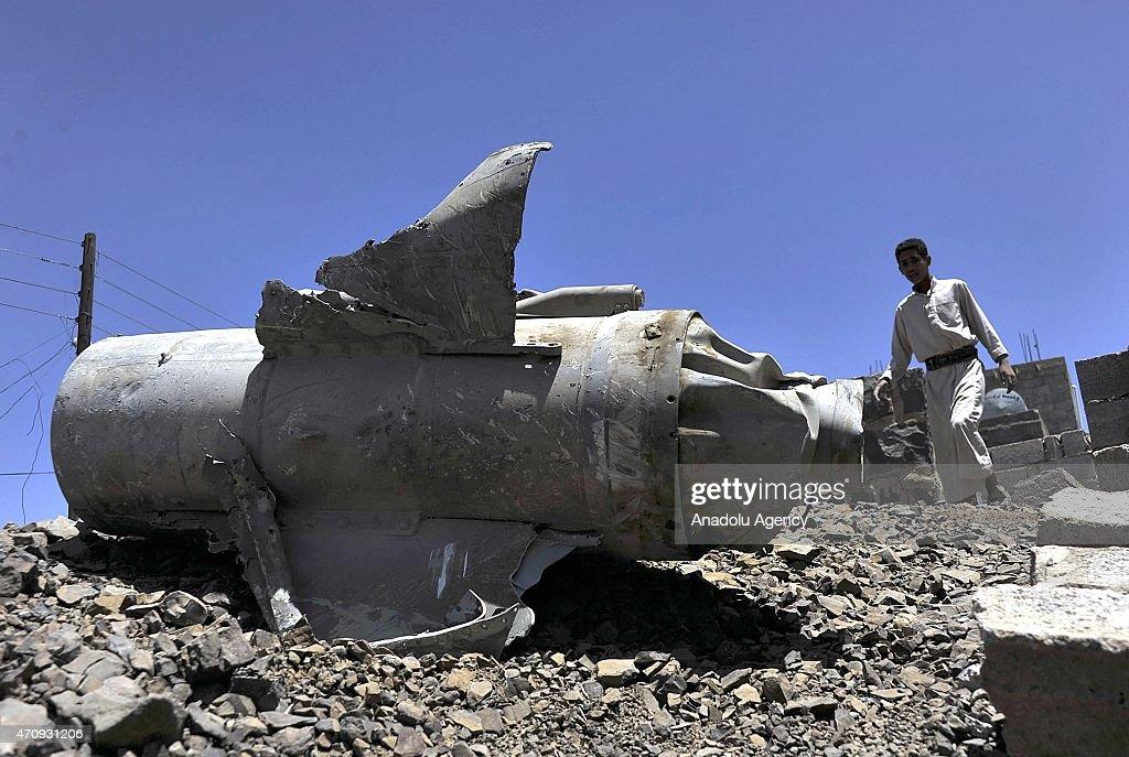 Saudi artillery shells Yemen's capital Sanaa : News Photo