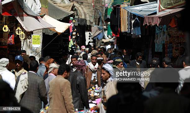 Yemenis shop in Sanaa's old city On December 19 2013 AlQaeda in the Arabian Peninsula has stepped up attacks on security forces government officials...