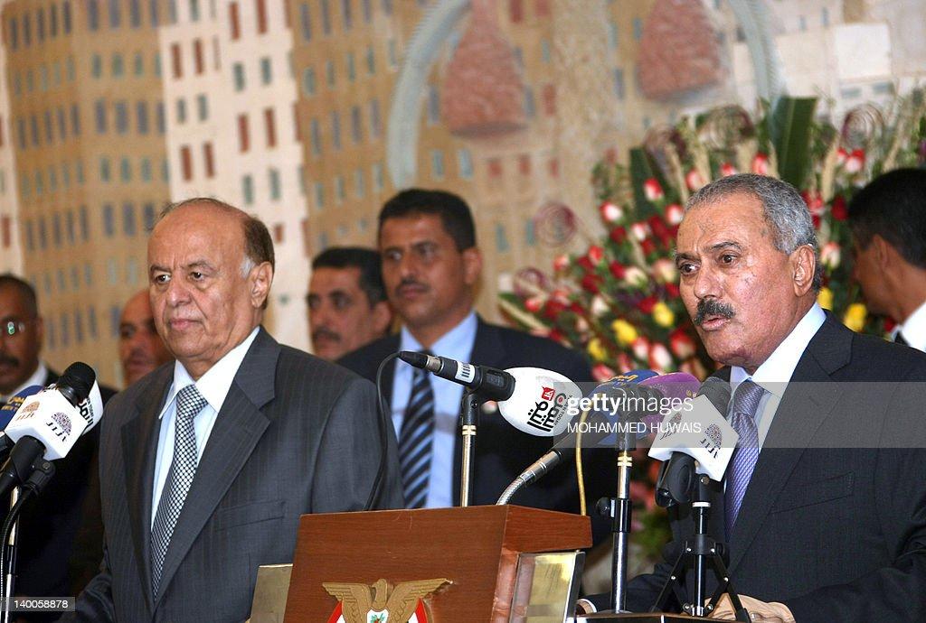 Yemen's former president Ali Abdullah Sa : News Photo