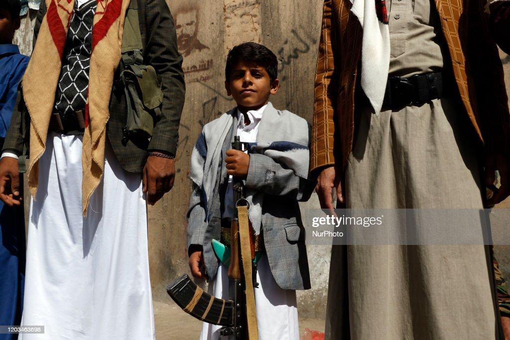 Tribal Houthi Gathering In Yemen : News Photo