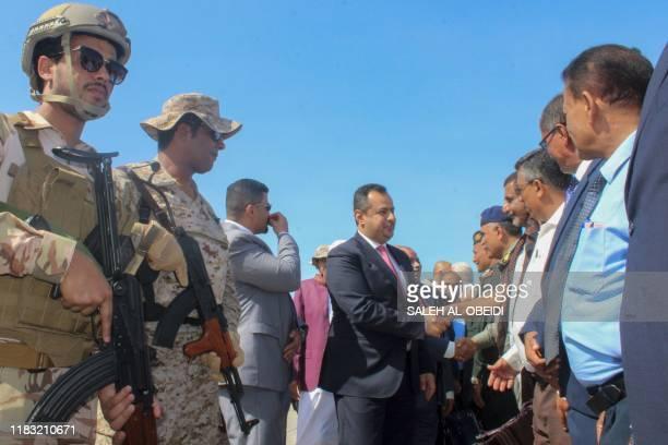 Yemen's Prime Minister Maeen Abdulmalik Saeed arrives in Aden on November 18 2019 Yemen's prime minister returned to the southern city of Aden under...