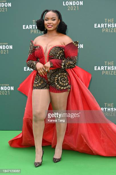 Yemi Alade attends the Earthshot Prize 2021 at Alexandra Palace on October 17, 2021 in London, England.
