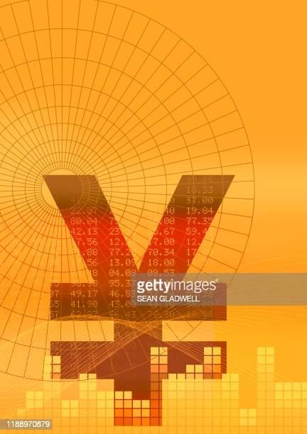 yen currency symbol - tokyo stock price index stock pictures, royalty-free photos & images