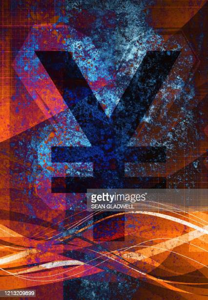yen currency symbol - graphic print stock pictures, royalty-free photos & images