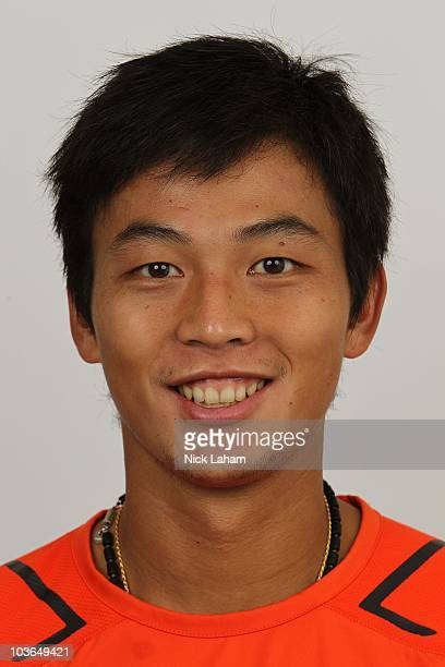 Yen Hsun Lu of Chinese Taipei poses for a heashot at the USTA Billie Jean King National Tennis Center on August 26, 2010 in the Flushing neighborhood...