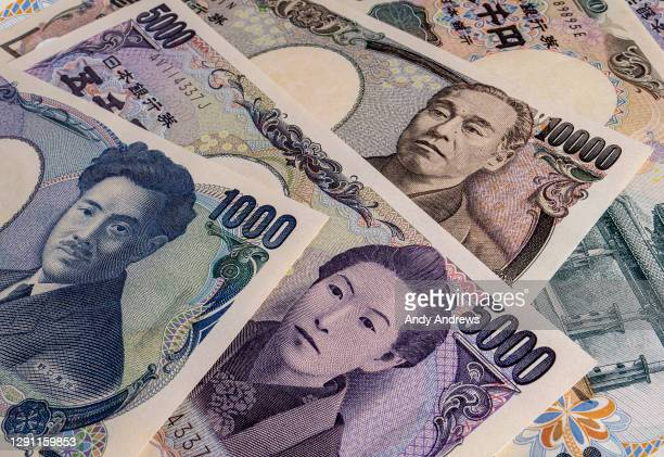 yen notes - tokyo stock price index stock pictures, royalty-free photos & images