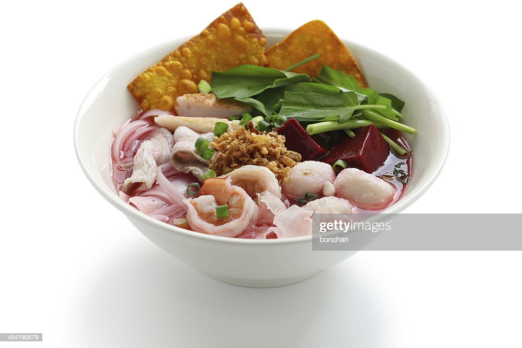 yen ta fo, thai cuisine : Stock Photo