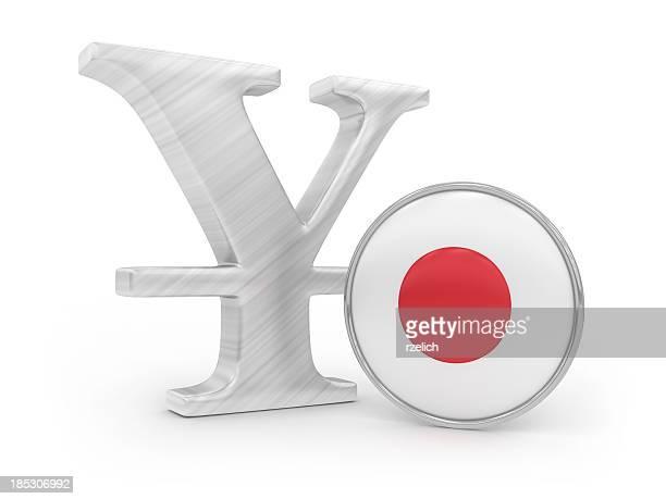 Yen with japanese flag