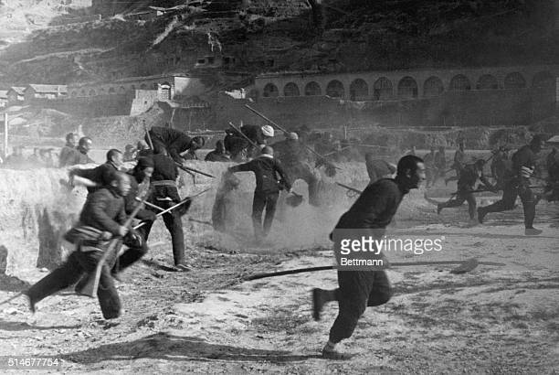 BEFORE THEY FACE THE ALLIES This is an authentic scene in Yenan of People's Guerilla Fighters in training First Mao used them in his southward sweep...