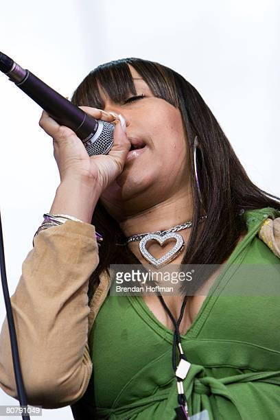 Yendy Brown of Mambo Sauce performs at the Green Apple Festival April 20 2008 in Washington DC The free concert one of eight nationwide is meant to...