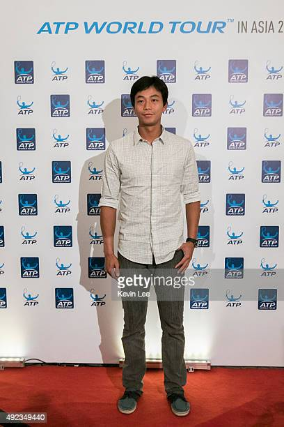 Yen-Hsun Lu poses for a picture at ATP World Tour in Asia 2015 on October 12, 2015 in Shanghai, China.
