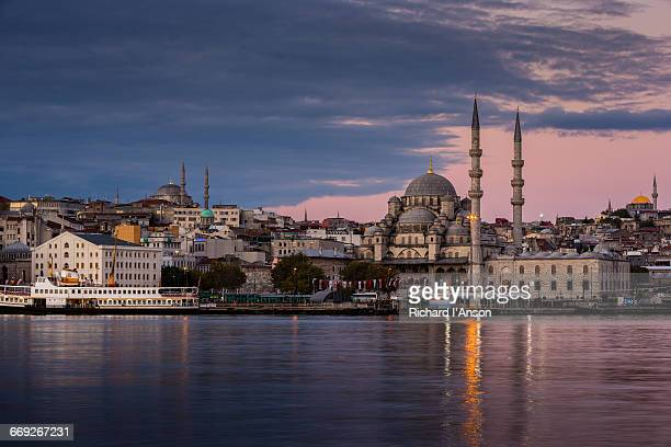Yeni Cami or New Mosque & the Golden Horn at dawn