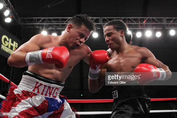 Yenifel Vicente throws a right hand against Jorge Diaz at the South Mountain Arena in South Orange NJ on June 14 2013 Vicente would win by tko in the...