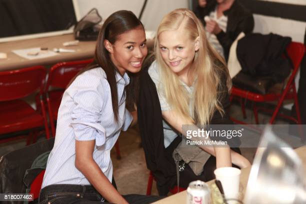 Yenny Garcia and Anne Sophie Monrad attend CYNTHIA STEFFE Spring 2011 Fashion Show at Eyebeam on September 12 2010 in New York City