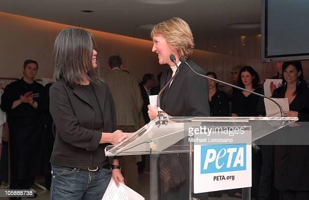 YeohLee and Ingrid Newkirk PeTA President during Olympus Fashion Week Fall 2006 Pamela Anderson Hosts PeTA's Fashion Week Bash at Stella McCartney...