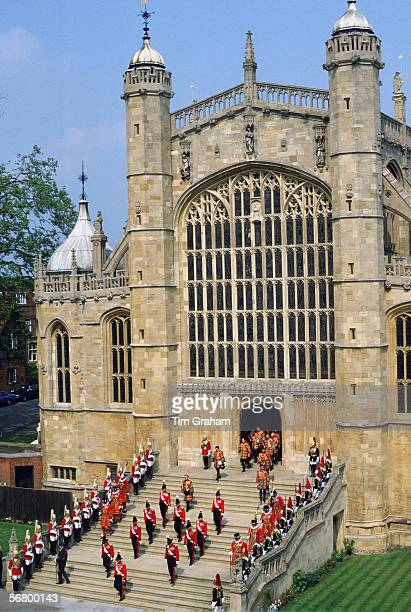 Yeomen of the Guard attending The Order of the Garter at St George's Chapel Windsor Castle