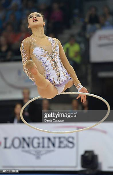 Yeon Jae Son of South Korea competes during the 34th Rhythmic Gymnastics World Championships on September 8 2015 in Stuttgart Germany