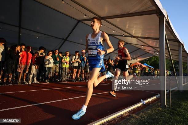 YeoryiosMihail Tassis of Greece runs in the Highgate Harriers Night of the 10000m PBs at Parliament Hill Athletics Track on May 19 2018 in London...