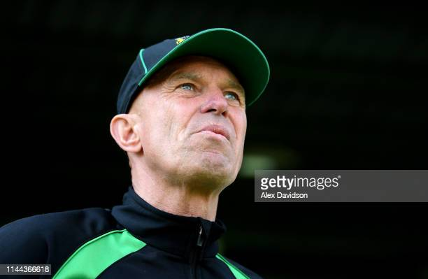 Yeovil Manager Neale Marmon during the Sky Bet League Two match between Yeovil Town and Colchester United at Huish Park on April 22 2019 in Yeovil...