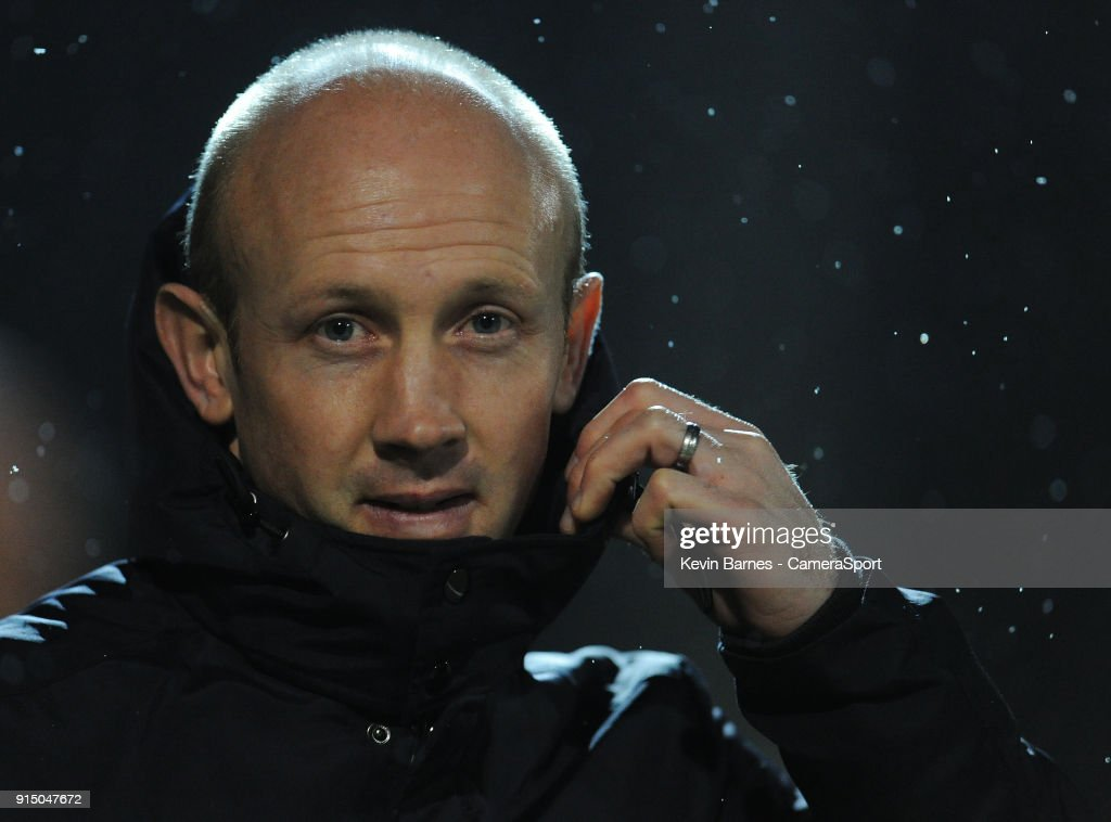 Yeovil Town manager Darren Way during the Checkatrade Trophy Quarter-Final match between Yeovil Town and Fleetwood Town at Huish Park on February 6, 2018 in Yeovil, England.