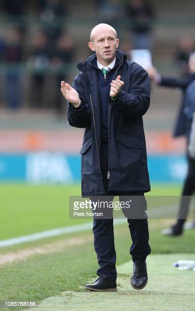 Yeovil Town manager Darren Way during the Sky Bet League Two match between Yevoil Town and Northampton Town at Huish Park on December 22 2018 in...