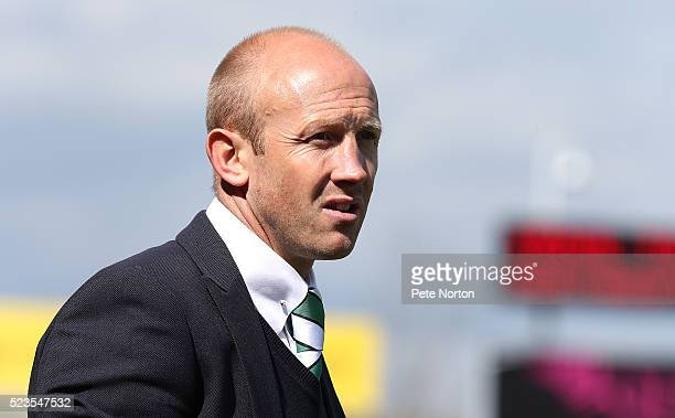 Yeovil Town manager Darren Way looks on during the Sky Bet League Two match between Yeovil Town and Northampton Town at Huish Park on April 23 2016...