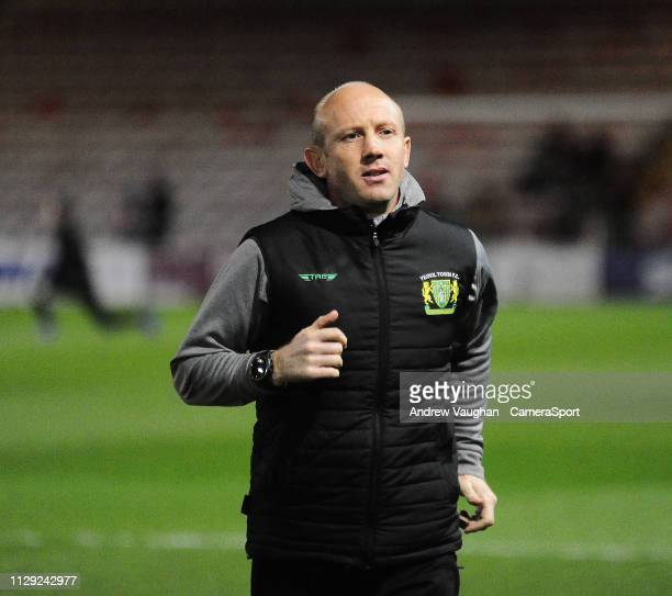 Yeovil Town manager Darren Way prior to the Sky Bet League Two match between Lincoln City and Yevoil Town at Sincil Bank Stadium on March 8 2019 in...