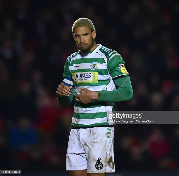Yeovil Town's Omar Sowunmi during the Sky Bet League Two match between Lincoln City and Yevoil Town at Sincil Bank Stadium on March 8 2019 in Lincoln...