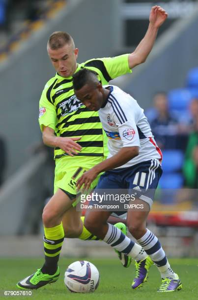Yeovil Town's Paddy Madden and Bolton Wanderers Rob Hall