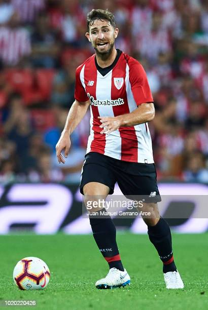 Yeray Alvarez of Athletic Club in action during the La Liga match between Athletic Club and CD Leganes at San Mames Stadium on August 20 2018 in...