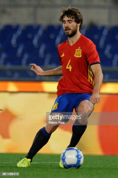 Yeray Alvarez of Spain U21 during the international friendly match between Italy U21 and Spain U21 at Olimpico Stadium on March 27 2017 in Rome Italy