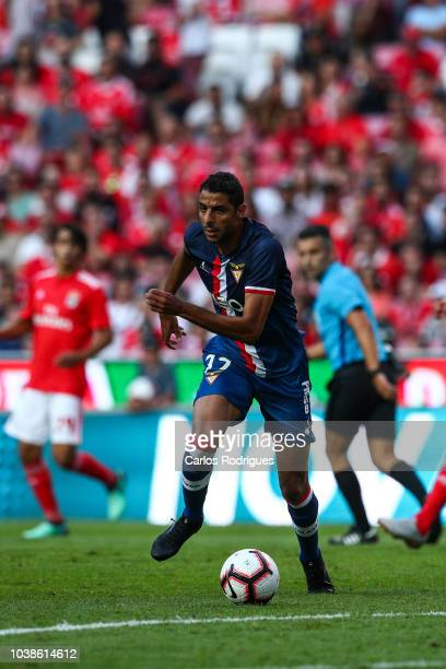 Yerson Pacheco of Desportivo das Aves during the Liga NOS match between SL Benfica and CD Aves at Estadio da Luz on September 23 2018 in Lisbon...