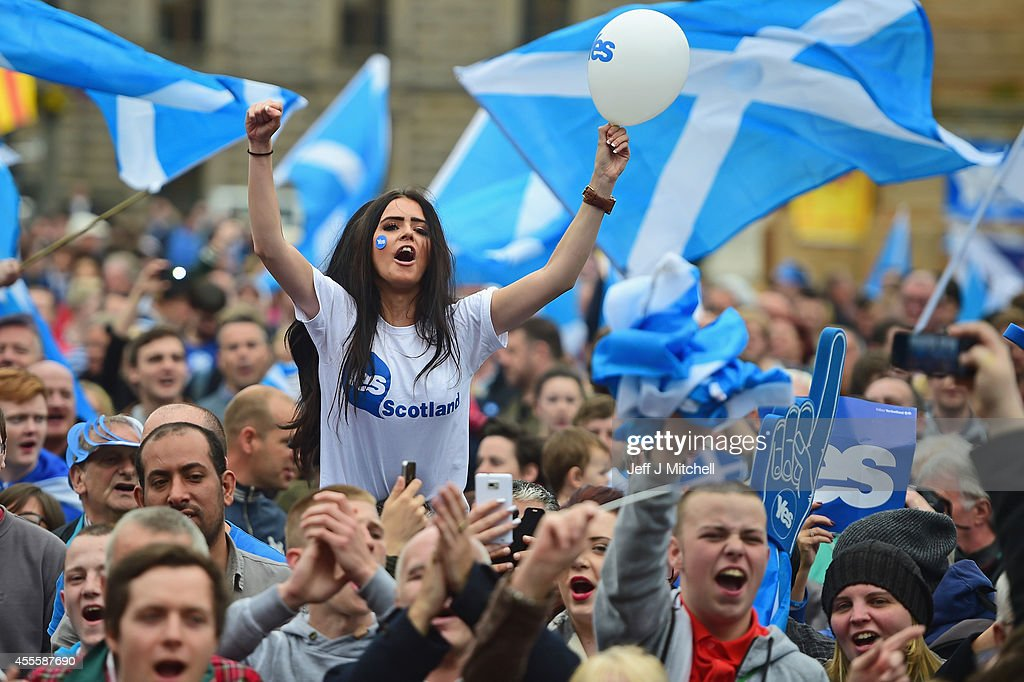 The Final Day Of Campaigning For The Scottish Referendum Ahead Of Tomorrow's Historic Vote : Foto di attualità