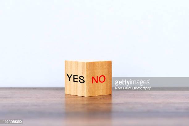 yes and no - permission concept stock pictures, royalty-free photos & images